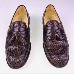 1dd7215e2 Mezlan men s woven brown leather Loafer shoes 10.5